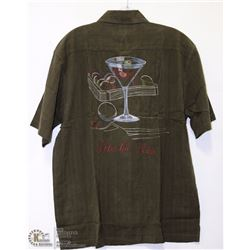 TOMMY BAHAMA 100% SILK EMBROIDERED SHIRT SIZE LRG