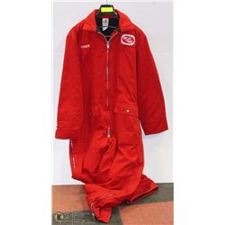 MENS WINNER INSULATED RED COVERALLS