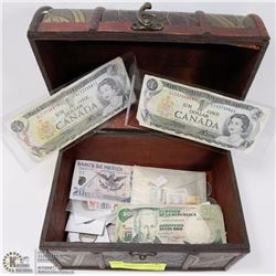 TREASURE CHEST OF CANADIAN & WORLD CURRENCY