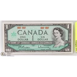 CENTENNIAL ONE DOLLAR BILL