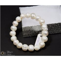 #26-FRESH WATER PEARL BRACELET 7.5""