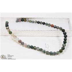#25-NATURAL INDIA AGATE LOOSE BEAD NECKLACE 15""
