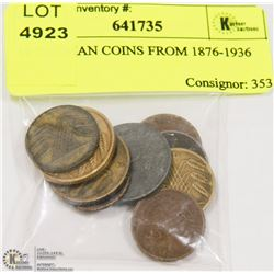 10 GERMAN COINS FROM 1876-1936