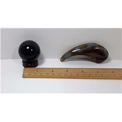#10 - BLACK OBSIDIAN 40MM SPHERE & STAND