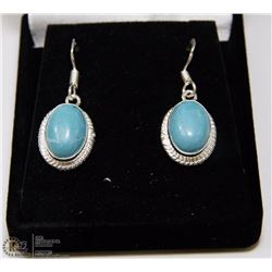 #11-CARRIBAN LARIMAR GEMSTONE EARRINGS