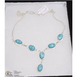 #9-CARRIBAN LARIMAR GEMSTONE NECKLACE