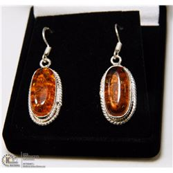 #15-BALTIC AMBER GEMSTONE EARRINGS