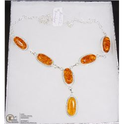 #13-BALTIC AMBER GEMSTONE NECKLACE