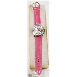 HELLO KITTY WATCH WITH PINK STRAP