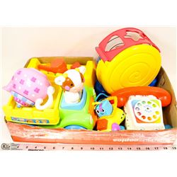 FLAT OF FISHER PRICE TODDLER TOYS