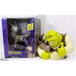 FLAT WITH TALKING SHREK COOKIE JAR & TALKING