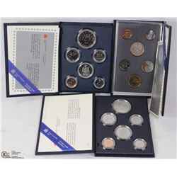 LOT OF 3 SPECIMEN CANADIAN COIN SET, 1986, 1987 &