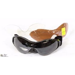 OUTDOOR SPORT SUNGLASSES WITH 2 EXTRA LENS SETS