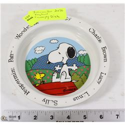 JOHNSON BROS ENGLAND SNOOPY & WOODSTOCK DISH