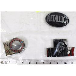 METALLICA, BOB MARLEY, AND ROULETTE BELT BUCKLES