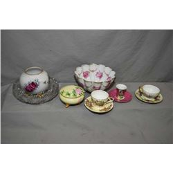 Selection of quality vintage collectibles including footed German bowl, Bavarian hand painted and li