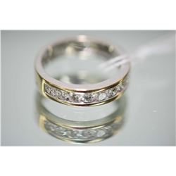 Ladies 18kt white gold and diamond band set with 0.67ct of brilliant white diamonds. Retail replacem