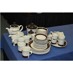 "Selection of Royal Doulton/Lambeth ironstone table ware ""Bistro"" including service for seven of dinn"