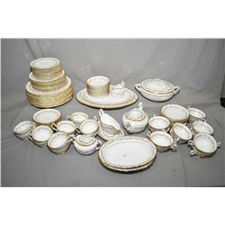 "Setting for twelve of Grosvenor ""Heritage"" bone china dinnerware including dinner plates, sideplates"