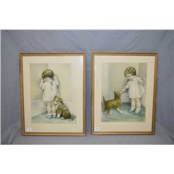 """Shadow box framed Bobsey Twins books including """"The Bobsey Twins at the Country Fair"""" and """"The Bobse"""