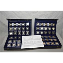 "Complete set of ""The Commemorative Design Coins of Canada"" including special issue war nickels up to"