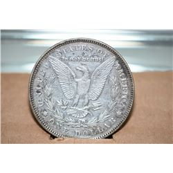 American 1878 Morgan dollar in bezel