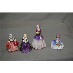 "Four Royal Doulton figurines including ""Goody Two Shoes"" HN2067, ""Affection"" HN236, ""Monica"" HN1463"