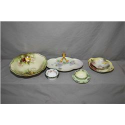 Selection of quality antique porcelain collectibles including Limoges, R.S Germany, Bavarian etc.
