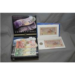 Selection of Royal Canadian Mint bank notes and coin sets including two Lasting Impressions boxed Ba