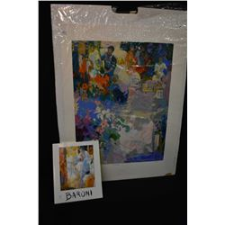 Unframed limited edition titled abstract print ,pencil signed by artist Baroni 241/500