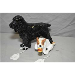 Royal Doulton Cocker Spaniel HN1020 and a Royal Doulton Jack Russell HN 1092