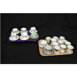 Selection of tea cups and mugs including Royal Albert coffee cups, Paragon, Queens, Royal Vale, plus