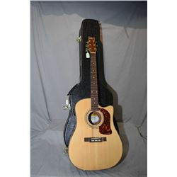 Washburn acoustic/electric guitar with hard case
