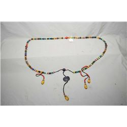 An Oriental coloured glazed beads court necklace, purportedly transitional period
