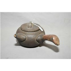 Japanese iron sand side handled teapot