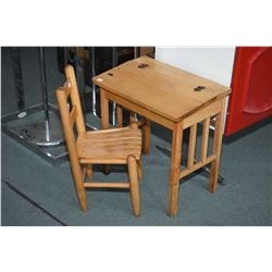 Mini sized flip top Cratchet desk and chair