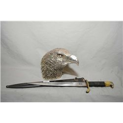 "White metal eagle, 6"" in height and a crude eagle head German replica Nazi dagger"