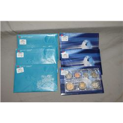 Six Royal Canadian Mint decimal sets, all 1999 including three with two dollar Nunavut commemorative