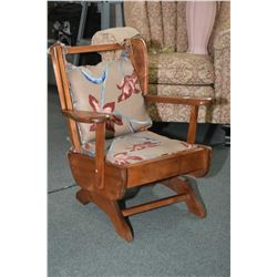Child's sized open arm platform rocker