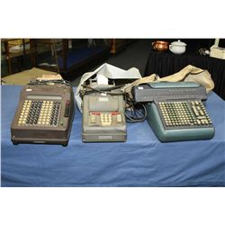 "Three vintage electric adding machines including ""addo-x"""