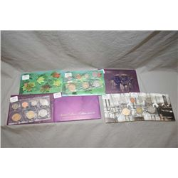Seven Royal Canadian Mint decimal sets including four 2002, two 2003, plus one special edition 2003