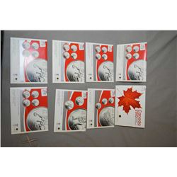 Seven Royal Canadian Mint Vancouver 2010 Olympic Souvenir decimal sets and a 2010 non Olympic decima