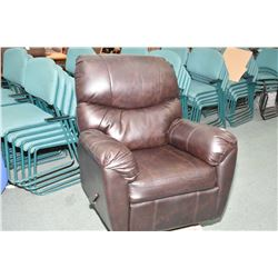 Modern bonded leather recliner