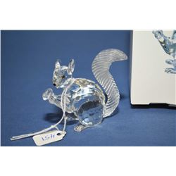 "Swarovski crystal Jubilee edition squirrel #7400NR, in height with original packaging, 2 1/2"" in hei"