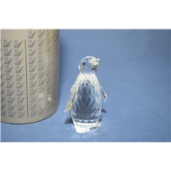"Swarovski crystal penguin, 3"" in height with original packaging"