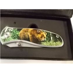 NEW FOLDING KNIFE - BEAR IMAGE