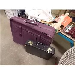 PURPLE SUIT CASE & BRIEF CASE