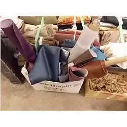 BOX OF ASSORTED LEATHER MATERIAL