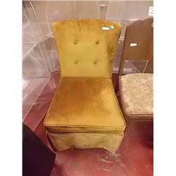 UPHOLSTERED BED SIDE CHAIR - GOLD