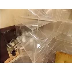 PIE SHAPED DISPLAY BINS - CLEAR